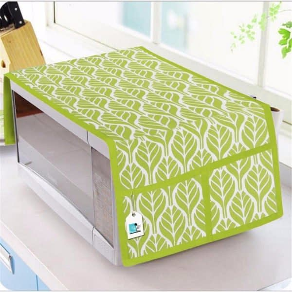 100% Cotton Printed Microwave Oven Cover (Size : 14X36 Inches, Color-Green)