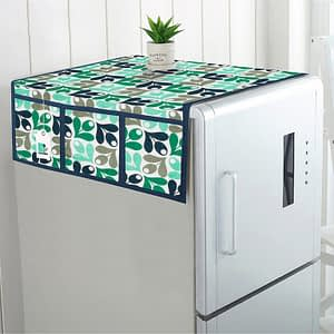100% Cotton Printed Refrigerator Cover (Size : 21X 39 Inches, Color-Sky Blue)