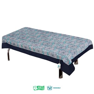 100% Cotton Printed Center Table Cover (Size : 40X60 Inches, Color-Sky Blue)