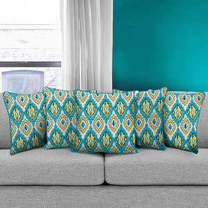 100% Cotton Printed Cushion Cover (Size : 12X12 Inches, Color-Blue)