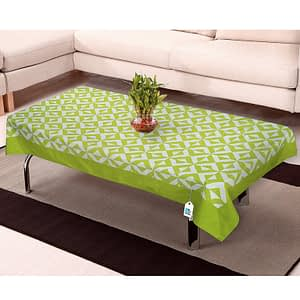 100% Cotton Printed Center Table Cover (Size : 40X60 Inches, Color-Green)