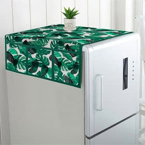 100% Cotton Printed Refrigerator Cover (Size : 21X 39 Inches, Color-Green)