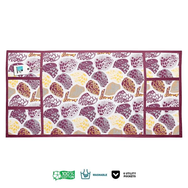 100% Cotton Printed Refrigerator Cover (Size : 21X 39 Inches, Color-Purple)