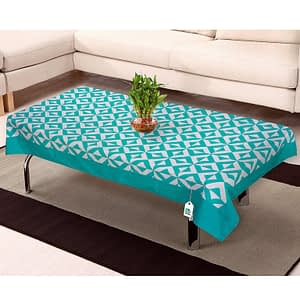 100% Cotton Printed Center Table Cover (Size : 40X60 Inches, Color-Blue)