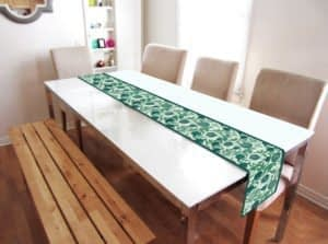 100% Cotton Printed Table Runner (Size : 14X72 Inches, Color-Blue)
