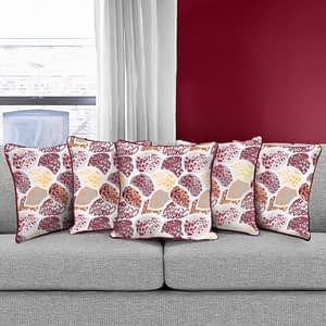 100% Cotton Printed Cushion Cover (Size : 12X12 Inches, Color-Purple)