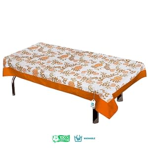 100% Cotton Printed Center Table Cover (Size : 40X60 Inches, Color-Orange)