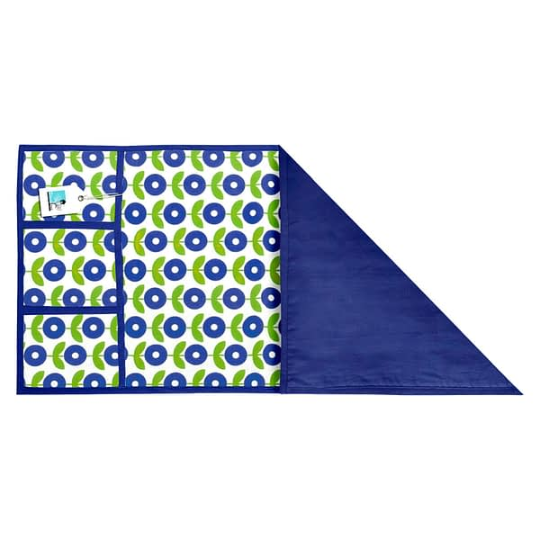 100% Cotton Printed Refrigerator Cover (Size : 21X 39 Inches, Color-Blue)